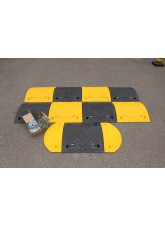 Speed Bump: 75mm Endcap Segment Black HxWxD: 75 x 210 x 480mm with Fixings