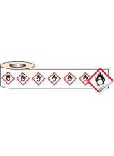 250 x Self Adhesive Labels - 50 x 50mm GHS Labels - Oxidiser