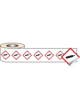 250 x GHS Labels - Compressed Gas - 50 x 50mm