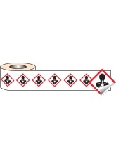 250 x GHS Labels - Health Hazard - 50 x 50mm