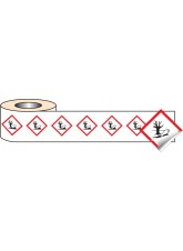250 x GHS Labels - Environmentally Hazardous - 50 x 50mm