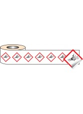 250 x GHS Labels - Explosive - 100 x 100mm