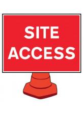 Reflective Cone Sign - Site access
