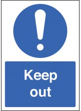 A4 Keep Out - Rigid Plastic - 210 x 297mm