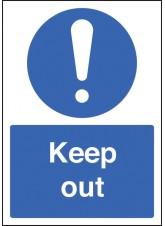 A4 Keep Out - Rigid Plastic - 210 x 297mm