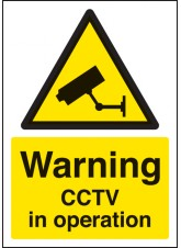 A4 Warning CCTV in Operation - Self Adhesive Vinyl - 210 x 297mm