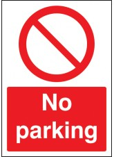 A4 No Parking - Rigid Plastic - 210 x 297mm