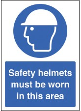 A4 Safety Helmet Must Be Worn