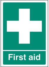 A4 First Aid - Self Adhesive Vinyl - 210 x 297mm