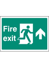 A4 Fire Exit Up - Self Adhesive Vinyl - 210 x 297mm