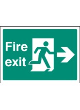 A4 Fire Exit Right - Self Adhesive Vinyl - 210 x 297mm