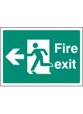 A4 Fire Exit Left - Self Adhesive Vinyl - 210 x 297mm