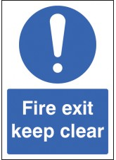 A4 Fire Exit Keep Clear