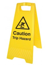 Caution Trip Hazard - Self Standing Folding Sign