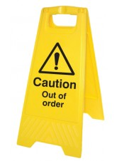 Caution Out of Order - Self Standing Folding Sign