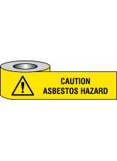 Caution Asbestos Hazard Barrier Tape - 75mm x250m