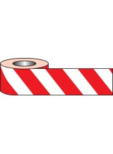Red & White Non-adhesive Barrier Tape