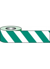 Self Adhesive Hazard Tape - 33m x 50mm - Green/White
