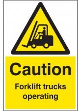 Caution Forklift Trucks Operating - Floor Graphic