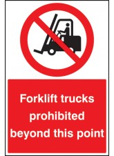 Forklifts Prohibited Beyond this Point - Floor Graphic