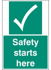 Safety Starts Here - Floor Graphic