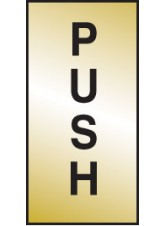 Push - Engraved Brass Effect