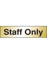 Staff Only - Engraved Brass Effect