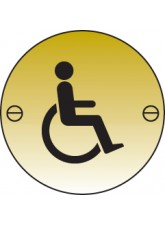 Disabled Symbol Brass