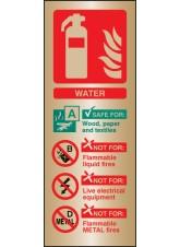 Water Extinguisher Identification - Brass