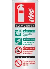 CO2 Extinguisher Identification - Aluminium