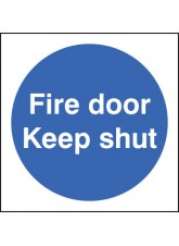 Fire Door Keep Shut Double Sided Self Adhesive 100 x 100mm