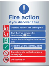 Fire Action Manual Dial with Lift - Aluminium
