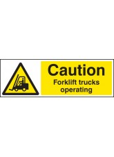 Caution Forklift Trucks Operating Quick Fix Sign