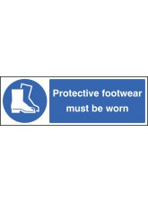 Protective Footwear Must Be Worn - Quick Fix Sign