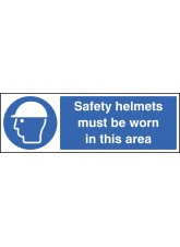 Safety Helmets Must Be Worn Beyond this Point - Quick Fix Sign