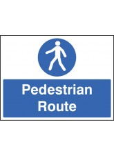 Pedestrian Route - Quick Fix Sign - 300x400mm