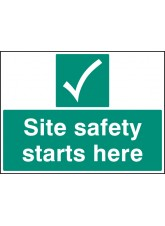 Site Safety Starts Here - Quick Fix Sign