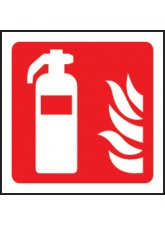 100 x Fire Extinguisher Labels - 100 x 100mm