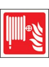 100 x Fire Hose Reel Labels - 100 x 100mm