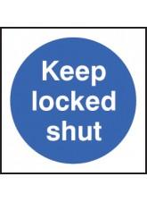100 x Keep Locked Shut Labels - 100 x 100mm