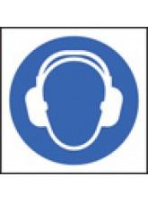 100 x Ear Defenders Labels - 50 x 50mm