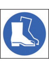 100 x Safety Boots Labels - 50 x 50mm