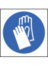 100 x Gloves Labels - 50 x 50mm