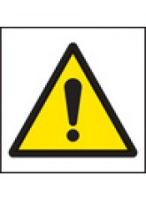 100 x Warning Exclamation Labels - 50 x 50mm