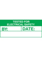 Roll of 100 Tested for Electric Labels - 50 x 20mm