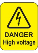 100 x Danger High Voltage Labels - 40 x 50mm