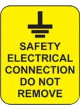 100 x Safety Electrical Connection Do Not Remove Labels - 40 x 50mm