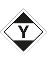 100 x LQ Diamond Y - Air Transport (ADR 2011) 100 x 100mm