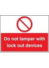 Do Not Tamper with Lockout Devices