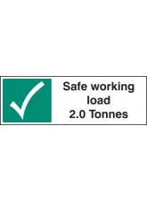 Safe Working Load 2.0 Tonnes